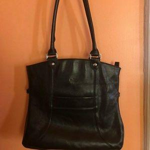 Milleni Italian Genuine Leather black shoulder bag
